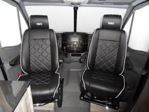 black leather captain seats