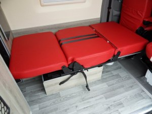 seat forms double bed