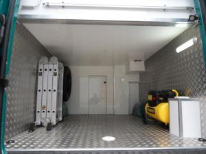VW Crafter Sporthome garage ladders