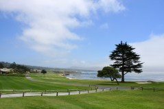 Pebble Beach view at the 18th hole