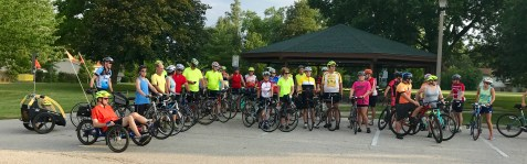 Group photo of riders