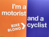 Bike BloNo Motorist and Cyclist Yard Sign
