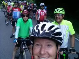3 MCW riders on RAIN ride