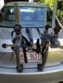 Bike rack on vehicle truck