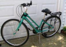 Step thru 7 speed bicycle