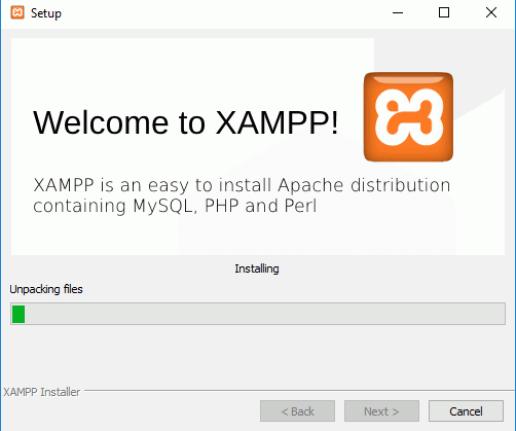 Instalación de XAMPP - Fin de la instalación
