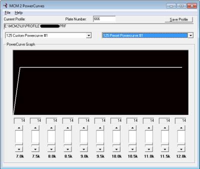 MCM2 PowerCurves Screenshot
