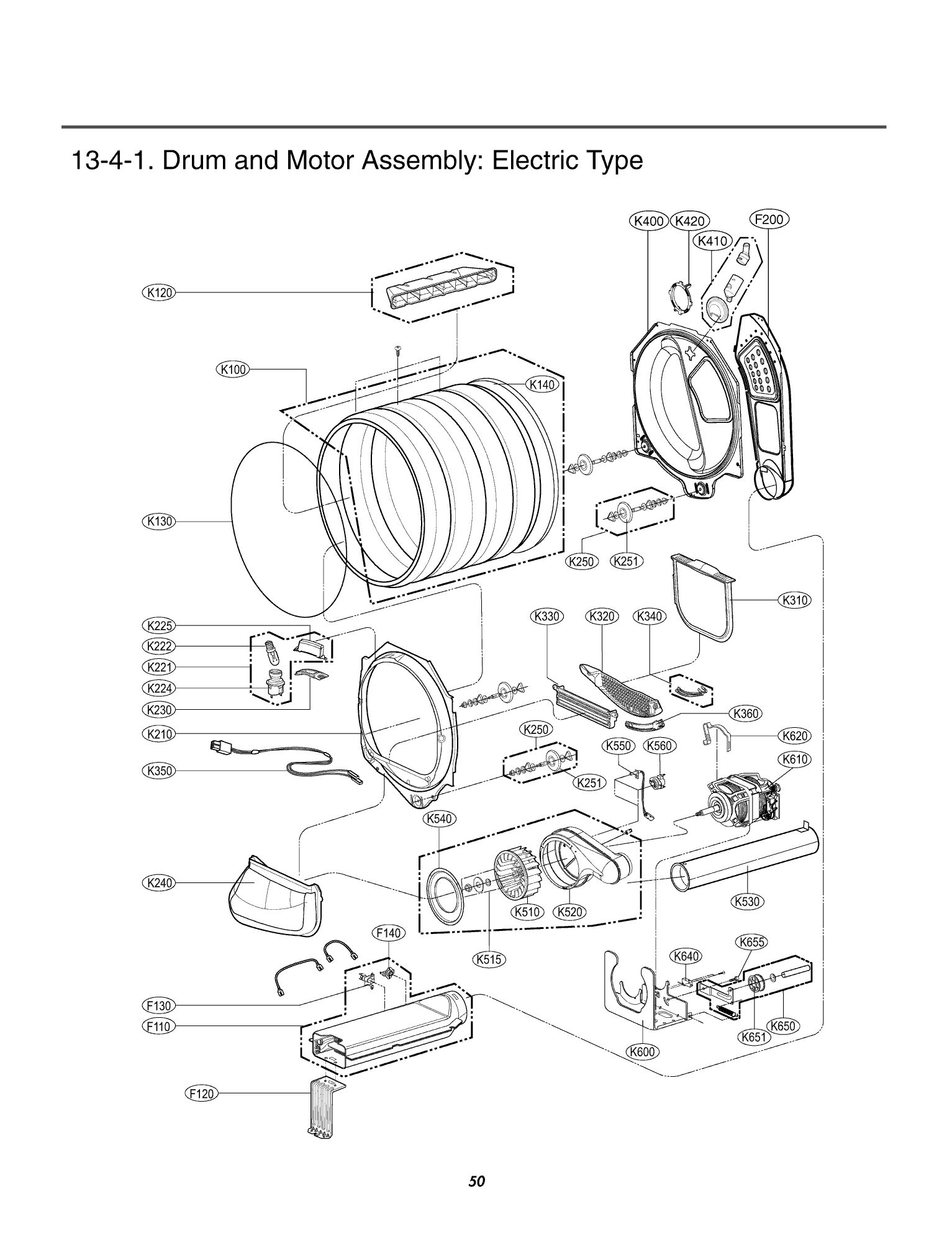 Lg Electronics Dlex W Drum And Motor Assembly Electric