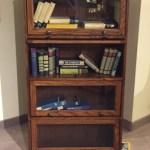 Grattan Lawyer Bookcase 4 Door Oak Peppercorn Fin Ant Brass
