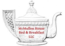 McMullen House Teapot Logo with red text