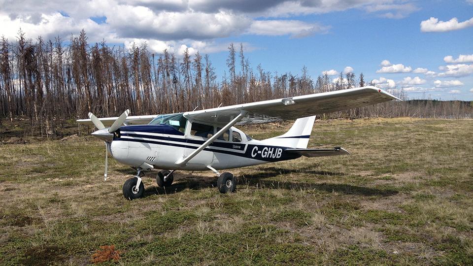 Cessna 296 HJB in andrew lake