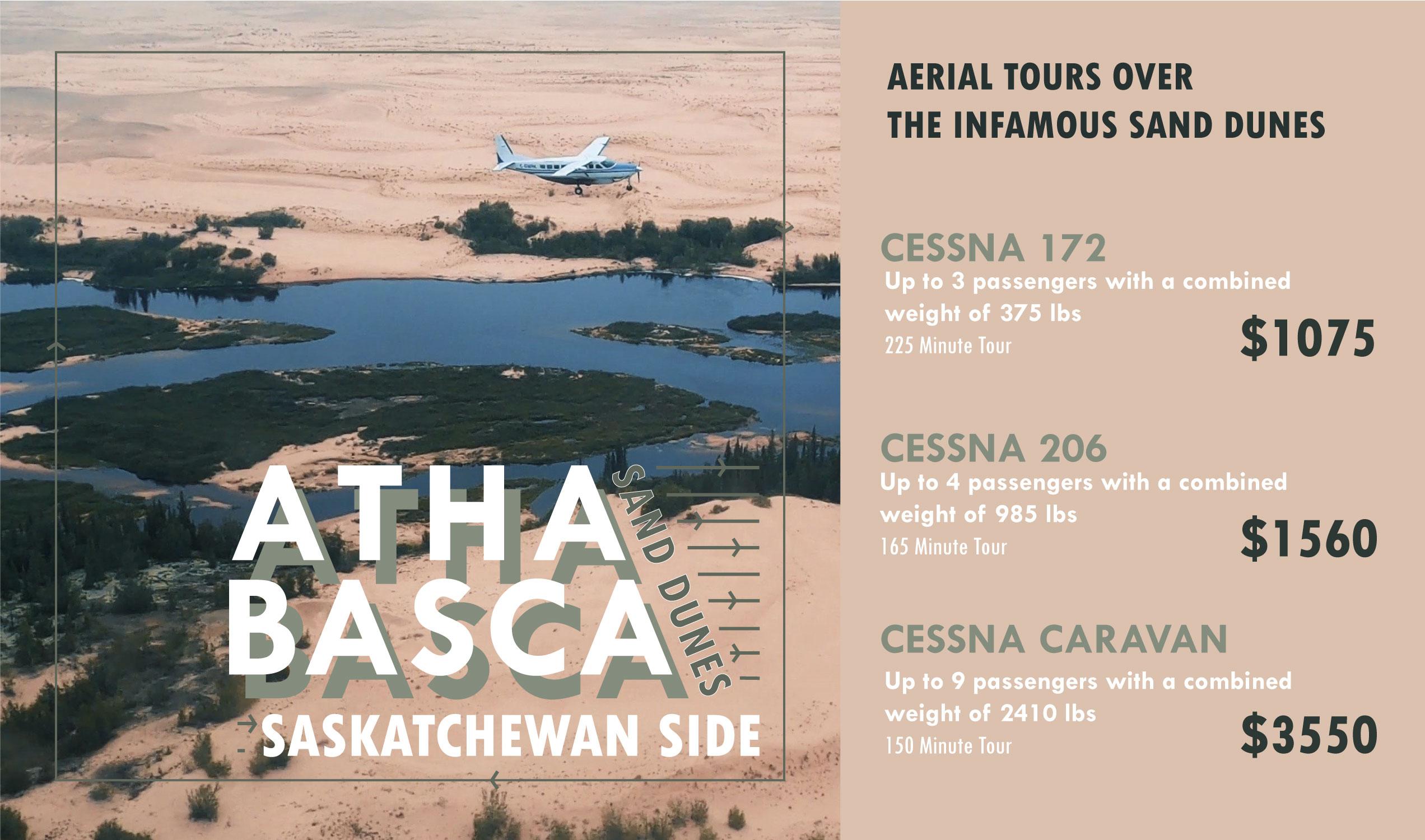 Athabasca Sand Dunes Aerial Tour prices - Saskatchewan side