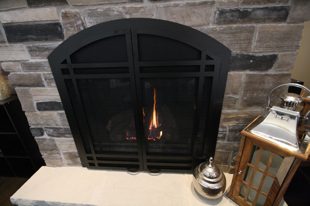 Radiant Heat Fireplace detail