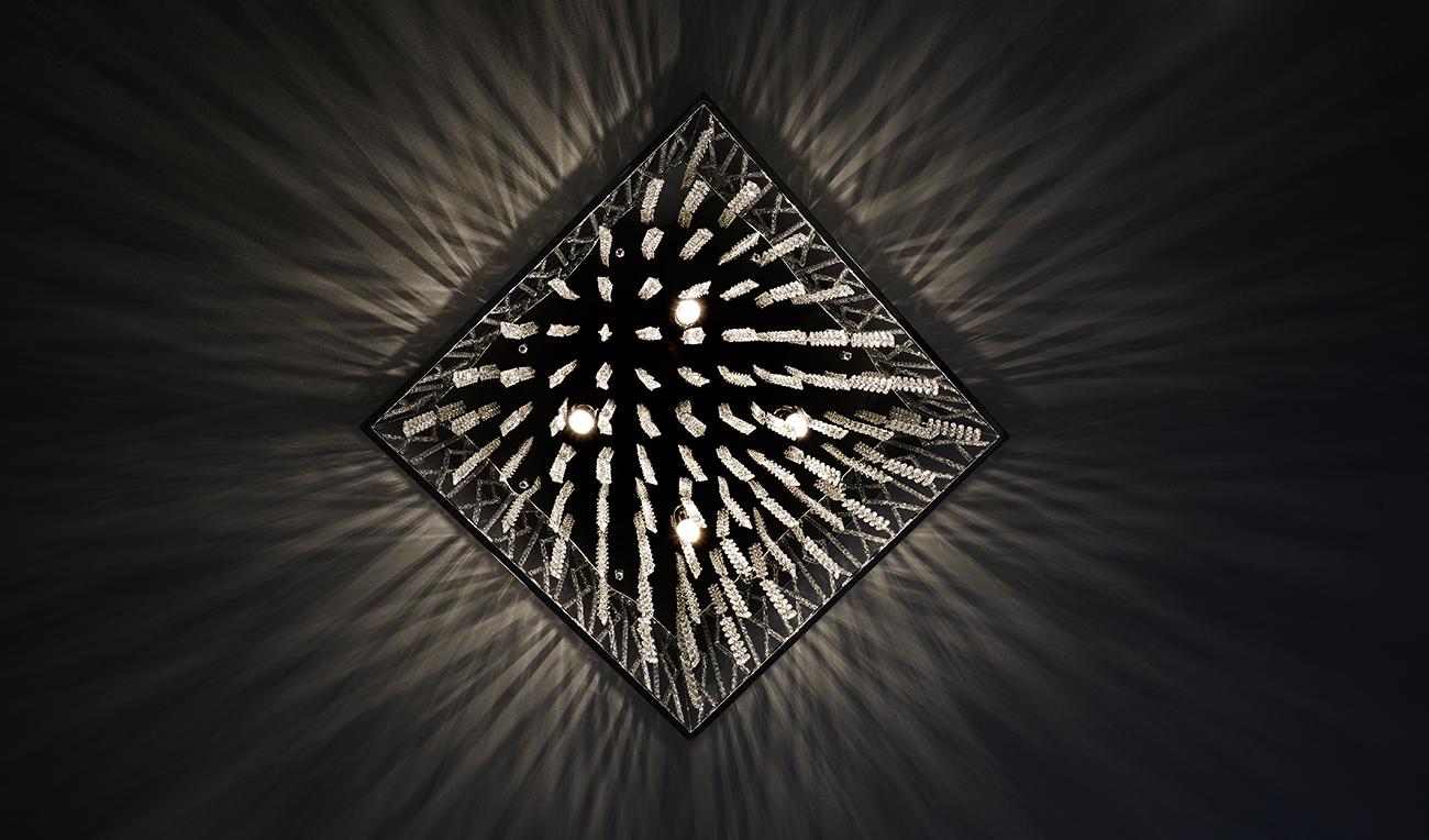 Sculptural Ceiling Light Fixture