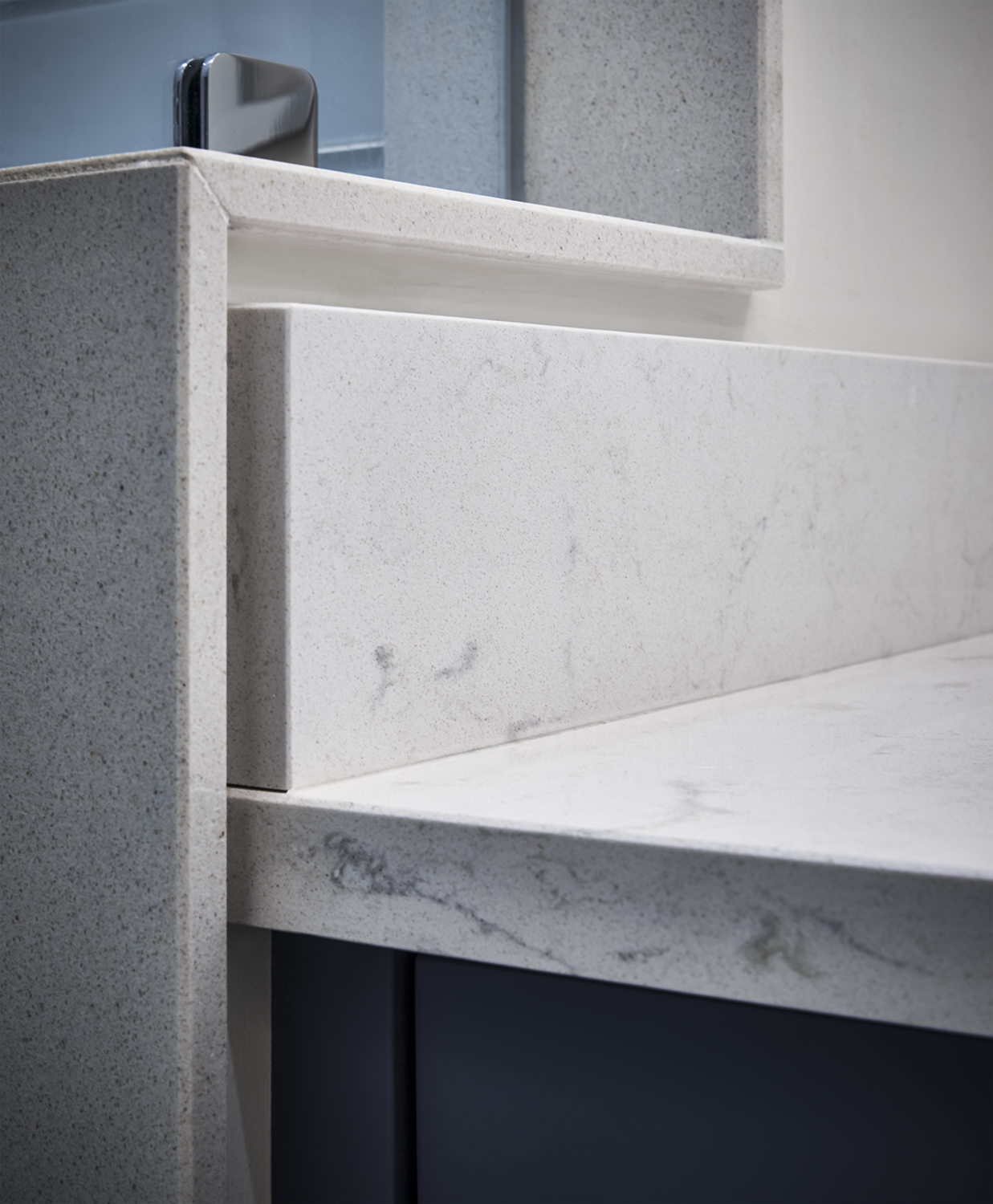 Cambria quartz counter top detail shot