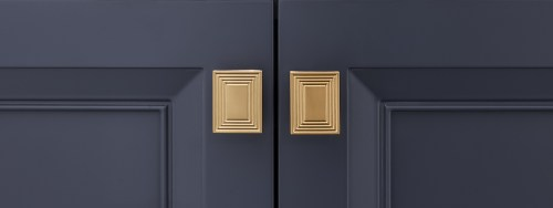 Contemporary Rectangular Champagne Gold Handle Pulls