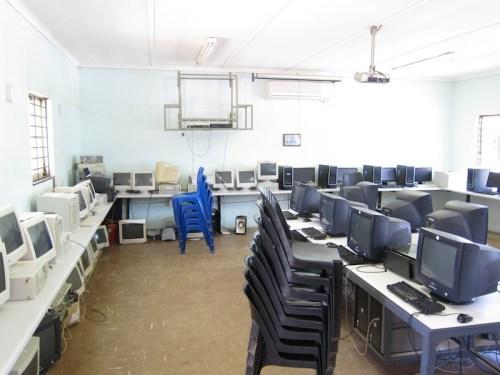 Computer lab at Sibusiswe High School, Umbumbulu