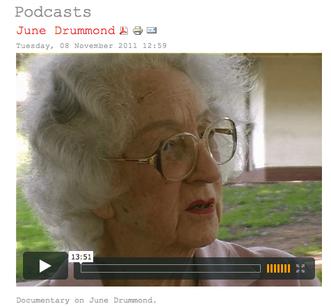 June Drummond podcast on KZN Literary Tourism website