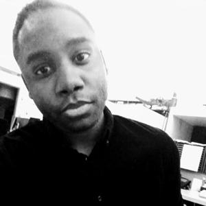 A black and white selfie of LJ Portis