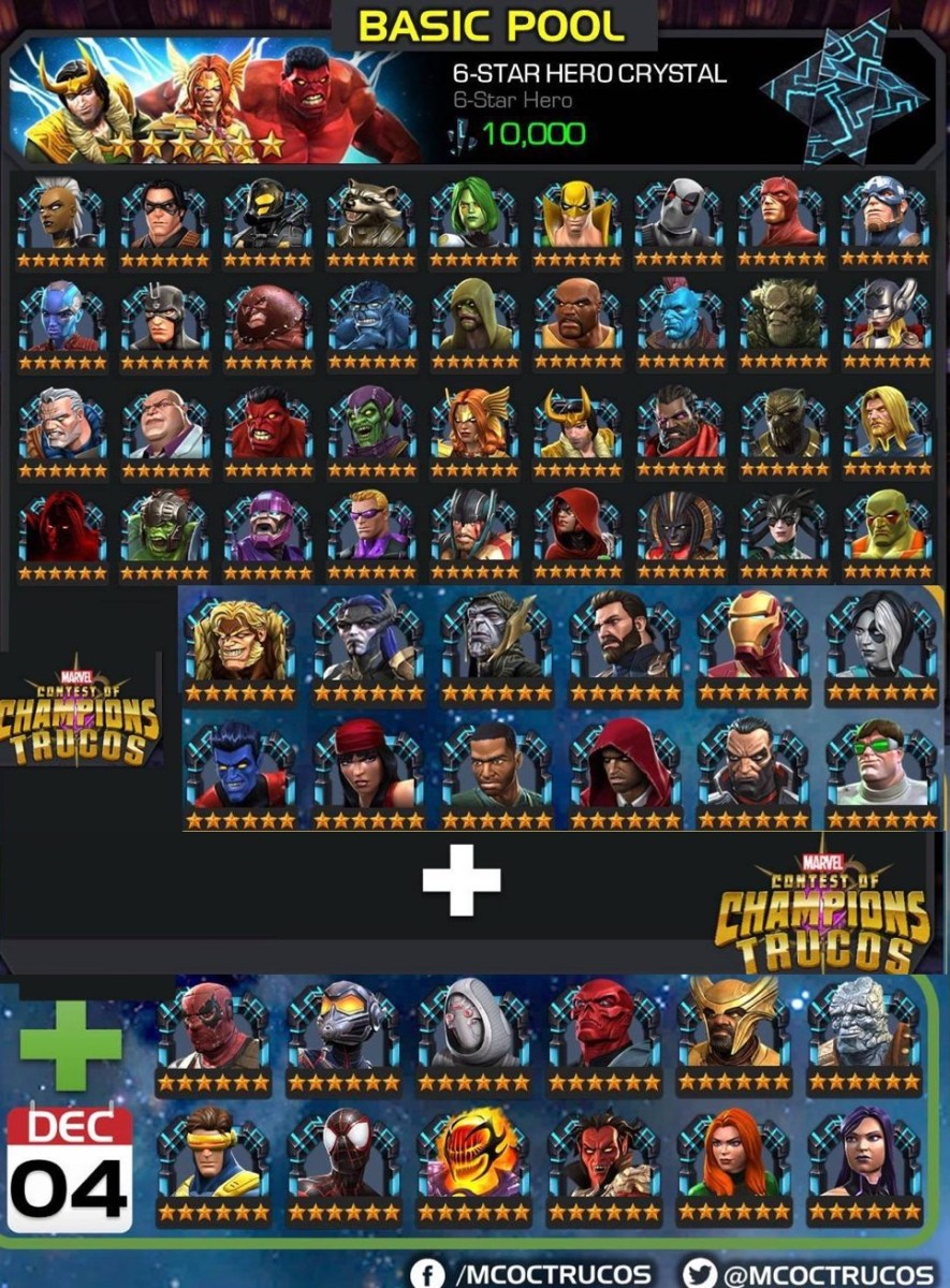 Available and Upcoming Champions in 6-Star Basic Pool?