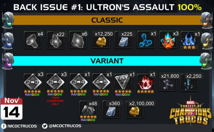 rewards for back issue ultron assault