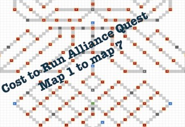 Costs to Run Alliance Quest Map 1 to Map 7 (Effective From Feb 16, 2019)