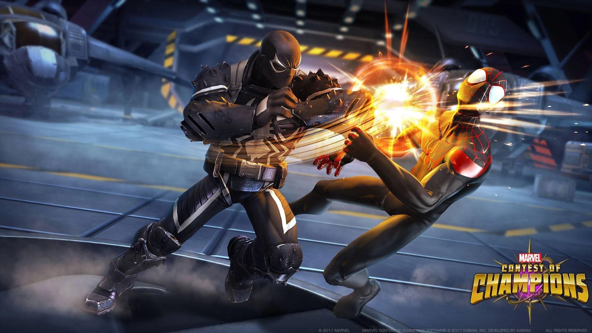 agent venom fights spidey miles