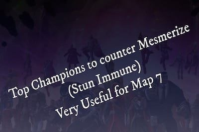 Champions to Counter Mesmerize Nodes (Paths)