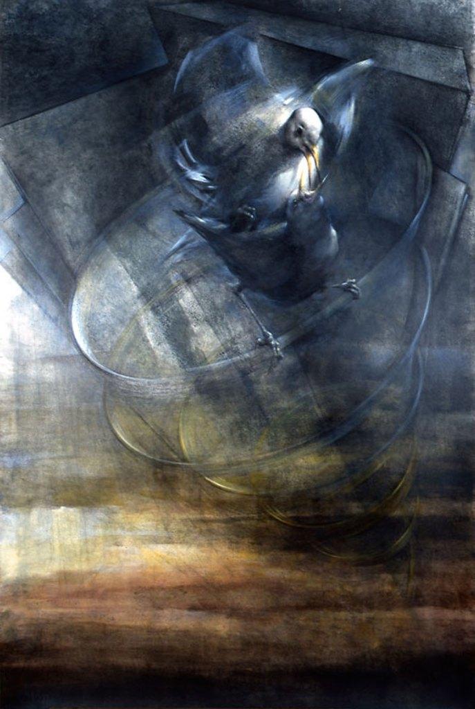Cópula (1999. Técnica mixta sobre cartulina. 120 x 80 cm)