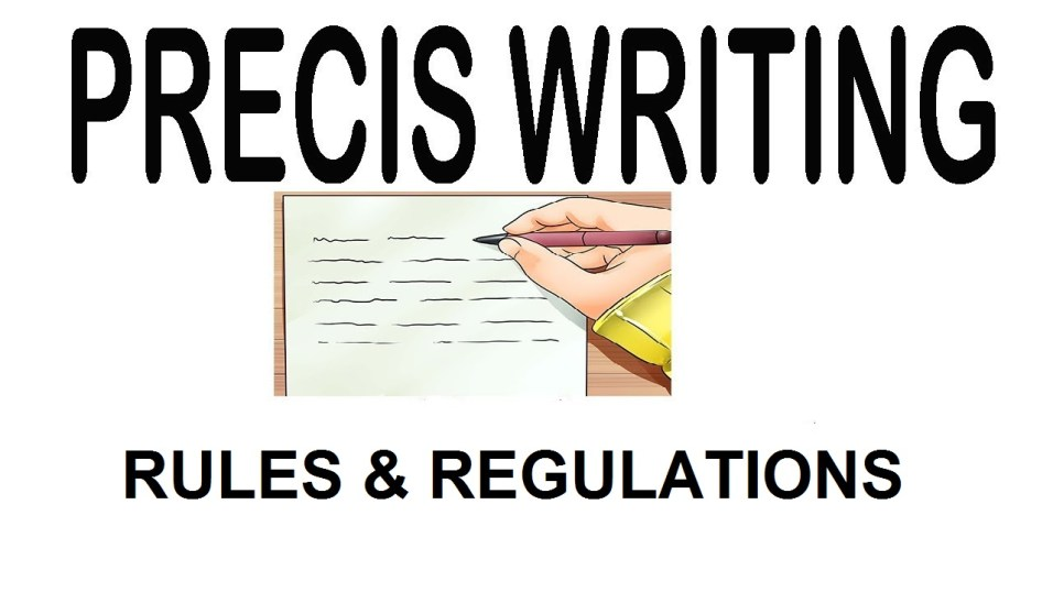 Precis writing rules