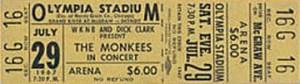 Unused-Monkees-Detroit-Concert-Ticket-1967-Olympia (MCRFB)