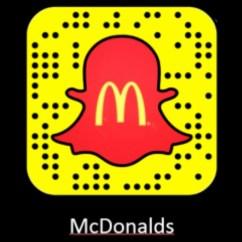 Snapchat McDonalds