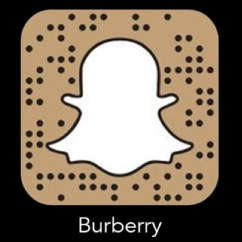 Snapchat burberry