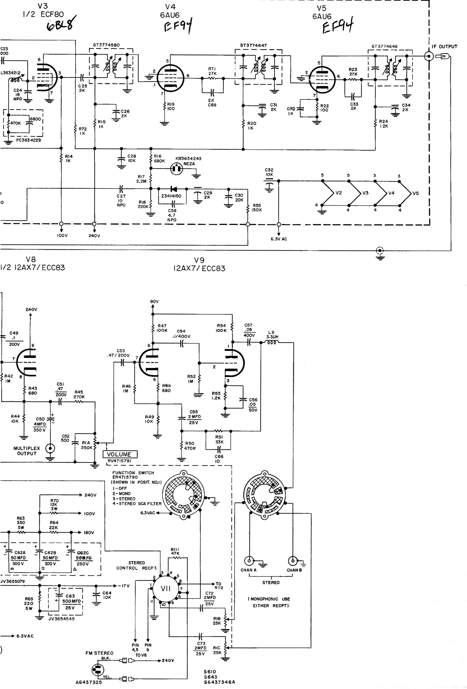 Click Here For The Citation Iii X Main Chassis Schematic