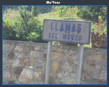 Cartel Llamas de Mouro