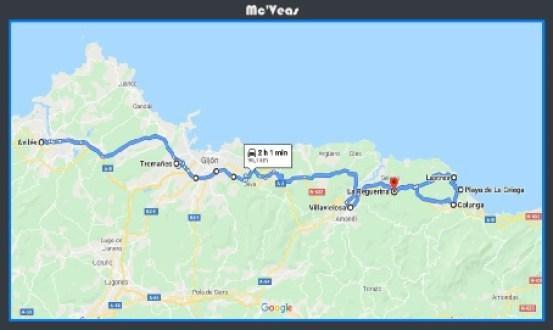 Plano ruta playa de la Griega