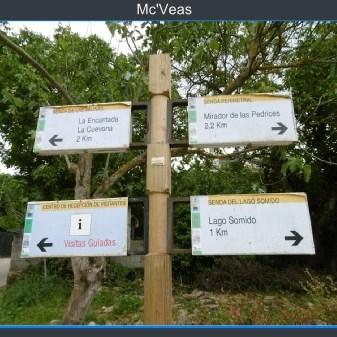 cartel de rutas posibles en las Médulas