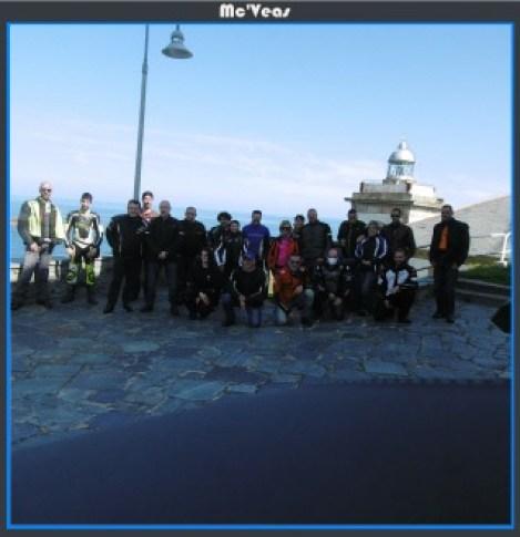 Grupo en Faro de Luarca