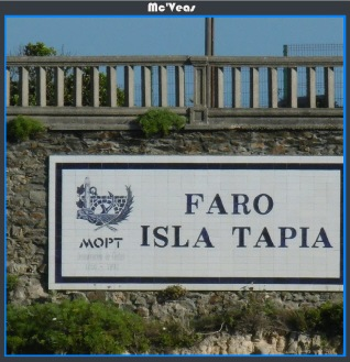 Cartel Faro Isla de Tapia