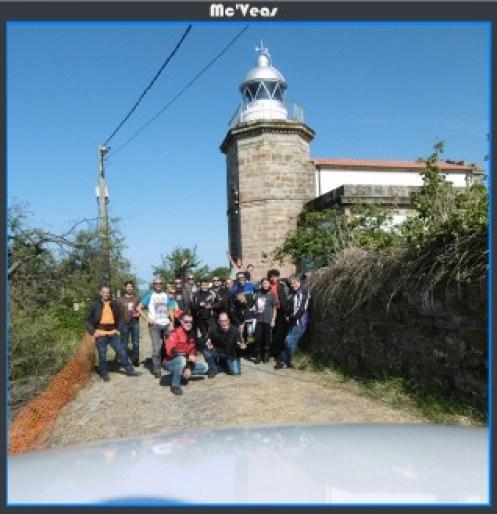 Grupo en Faro de Tazones