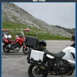 motos en el alto del angliru