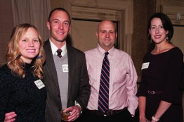 Claire and ryan Muchow, MD; Brian Adkins, MD, UK Emergency Medicine, and proprietor of The Kentucky Castle; and Elizabeth Hubbard, MD, enjoyed the festive holiday atmosphere.