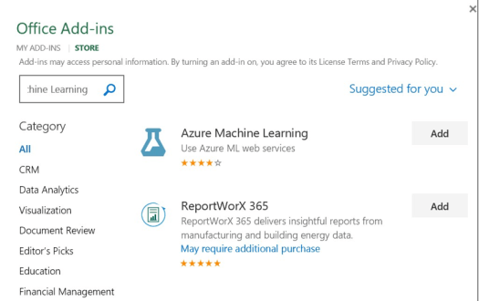 Human Activity Classifier - DataChangers Inspiration - Azure-ML-Office-Addin