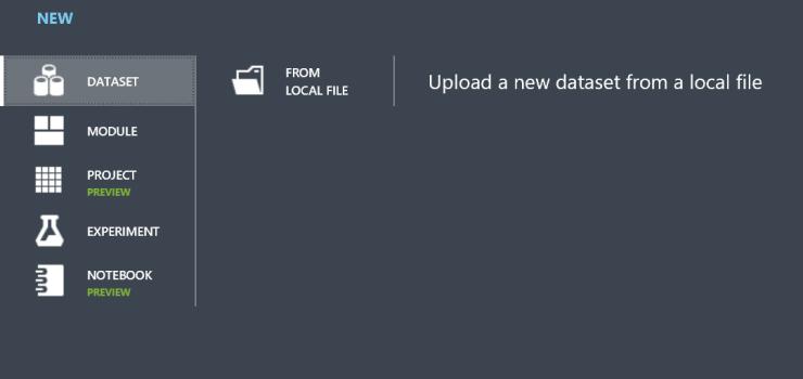 Azure-ML-Upload-datafile