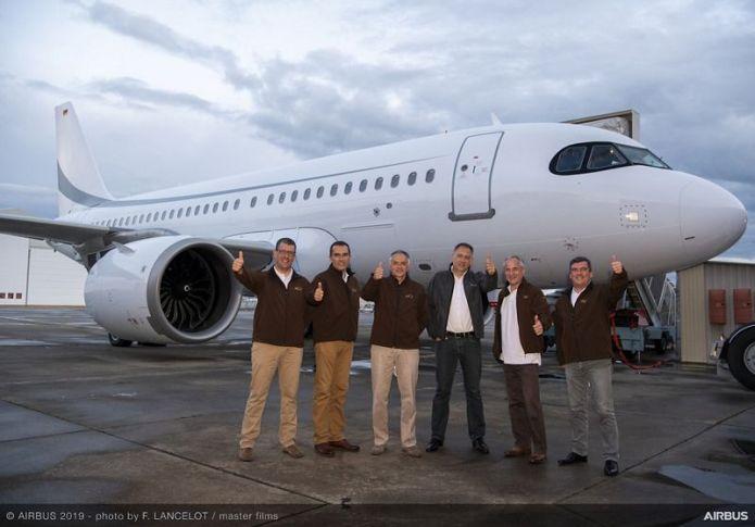 ACJ319neo Endurance flight crew