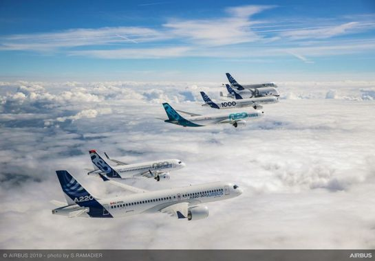 Airbus 50th years anniversary formation flight air to air 027