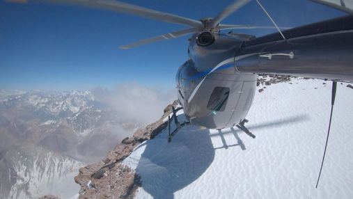 Airbus Helicopters H145 Aconcagua landing