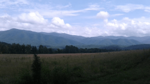 Breathtaking view of the Great Smokey Mountains.