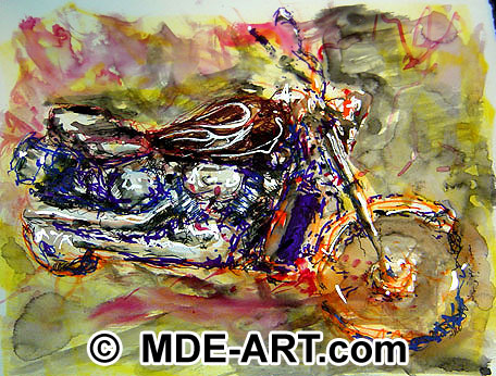 A drawing of a Motorcycle