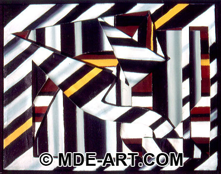 Abstract Art Painting with Acrylics